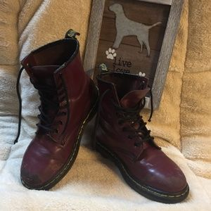 """Dr Martens 1460 """"Cherry Red"""" Burgundy Boots"""